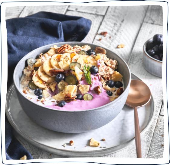 porridgebowl mit purbio joghurt blaubeere 11